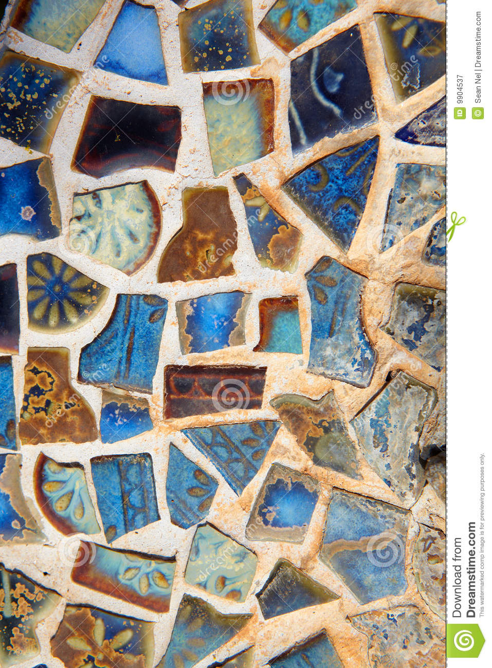 Broken Mosaic Tile Background Royalty Free Stock