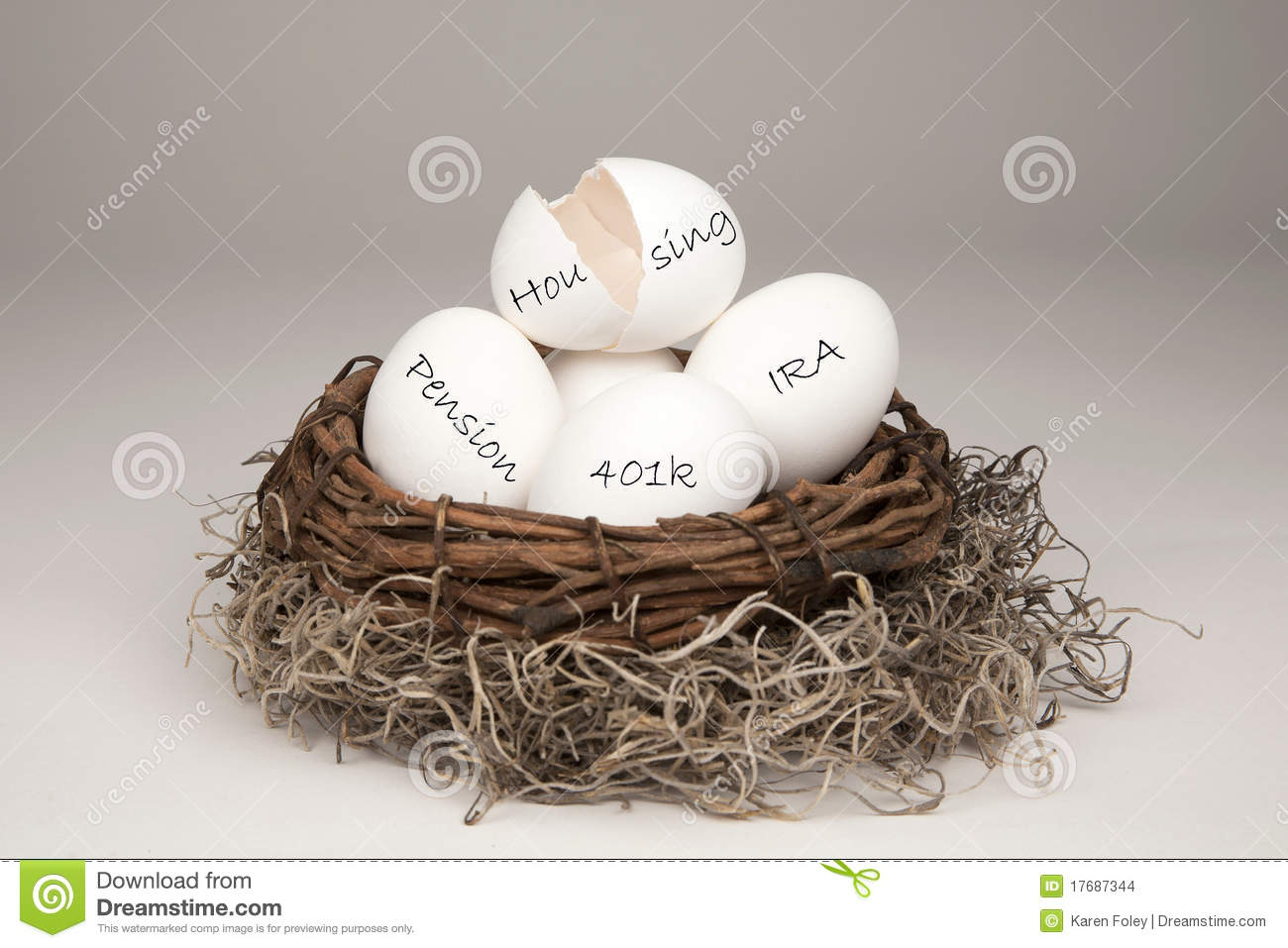 Broken Nest Egg White