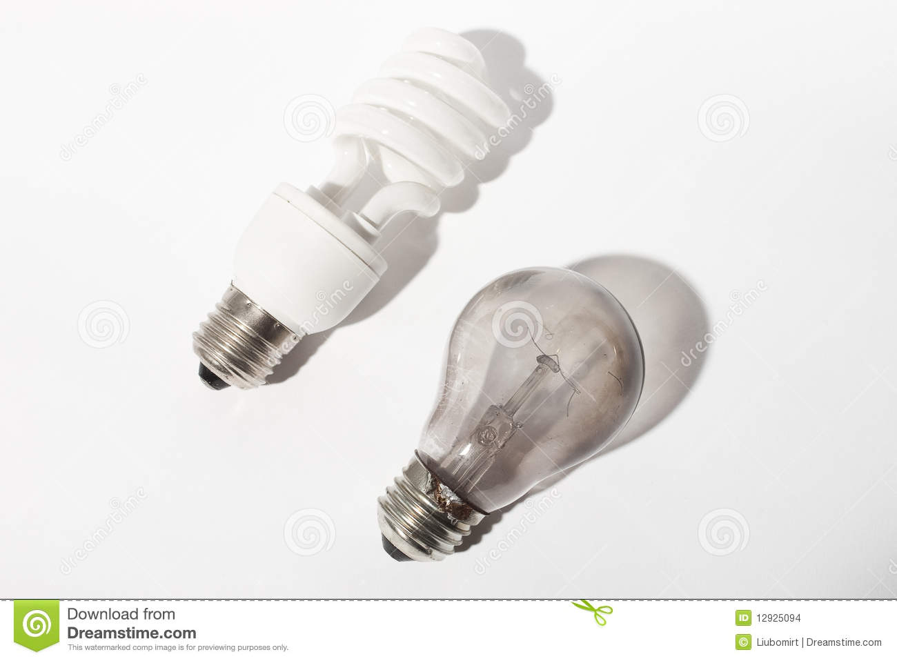 Broken And New Light Bulbs Stock Images Image 12925094