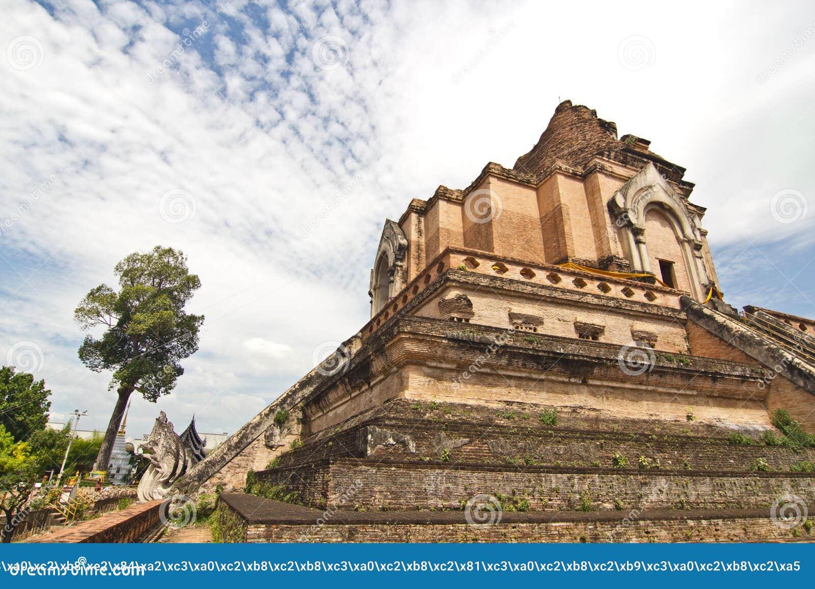 Broken pagoda thailand