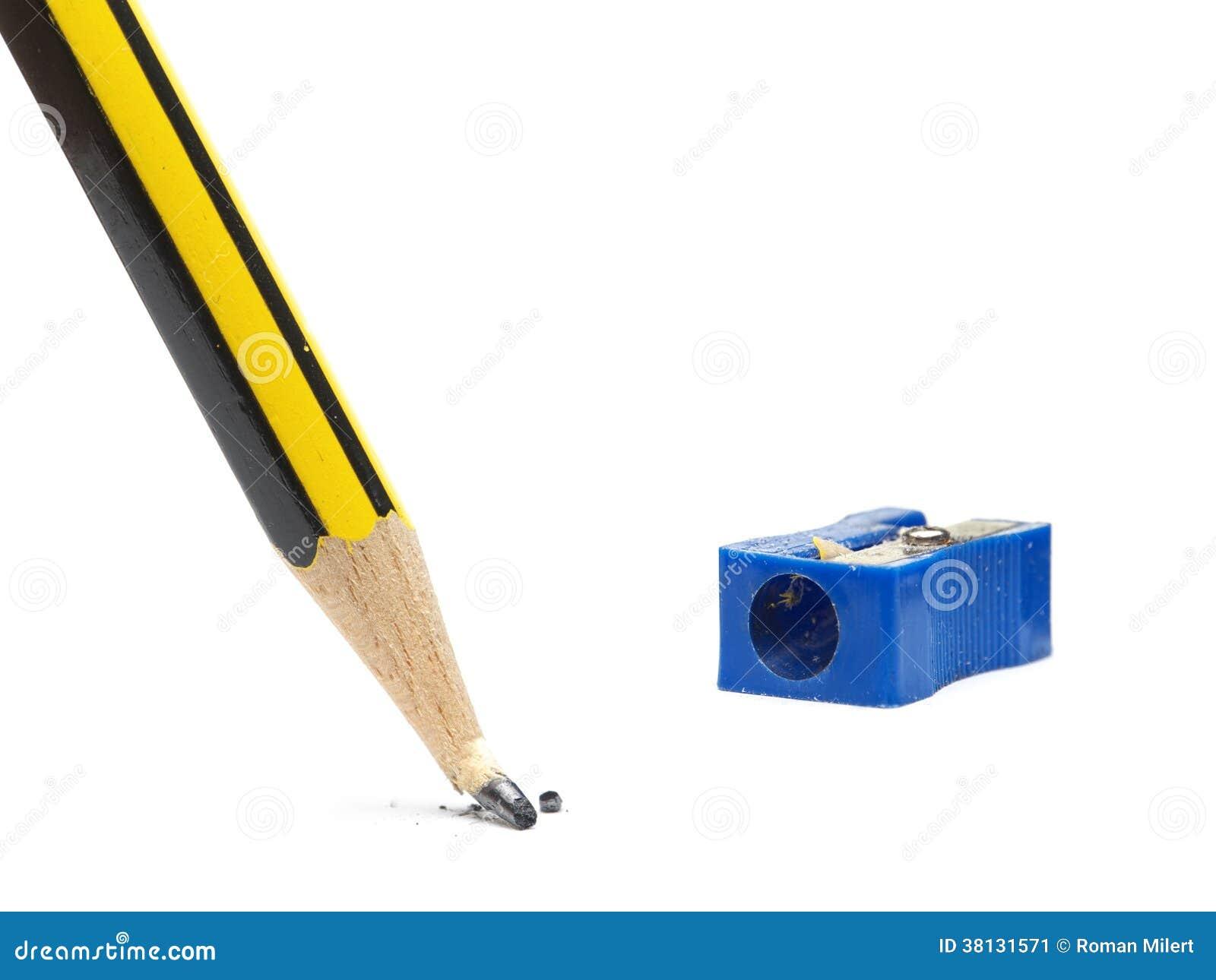 Broken pencil tip stock image. Image of drawing, white ...