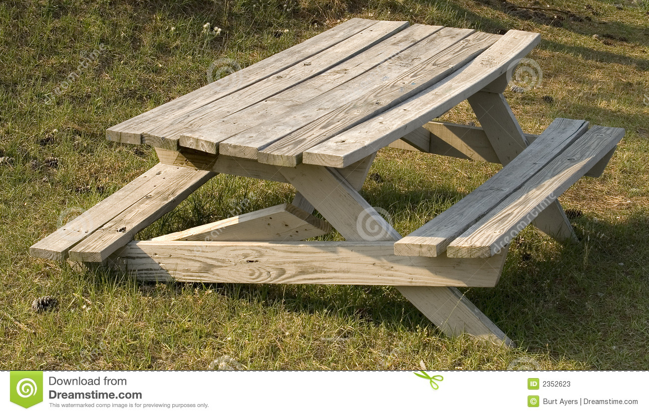 Broken Picnic table stock image. Image of table, seat ...