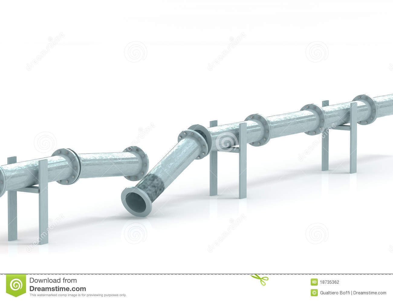 Broken Pipeline Stock Photography Image 18735362