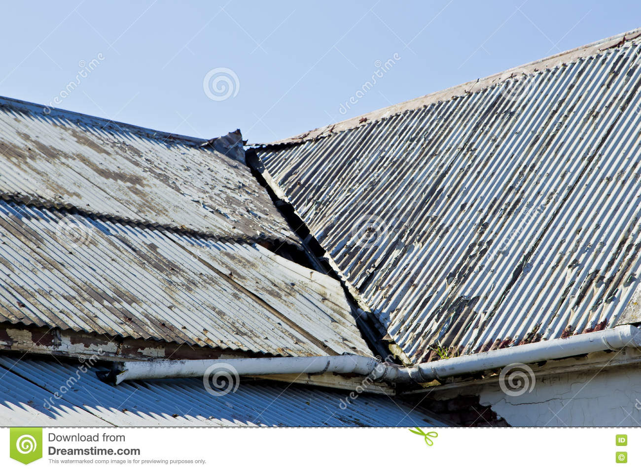 Detail Of Iron Roof Royalty Free Stock Photo