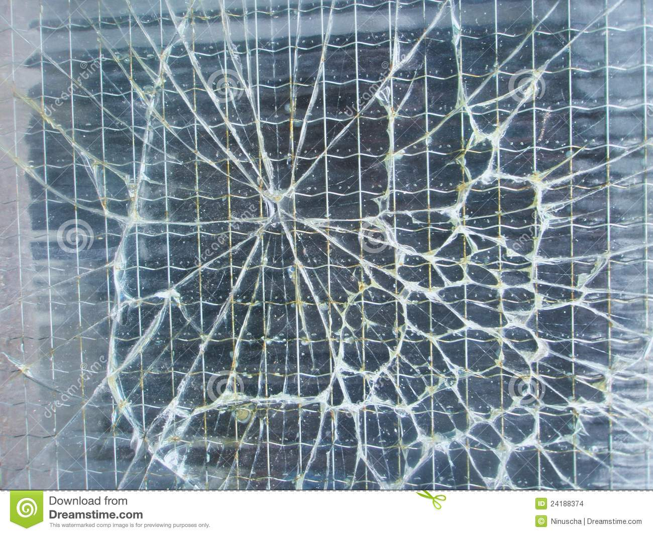 Broken Safety Wire Glass Background Stock Images Image