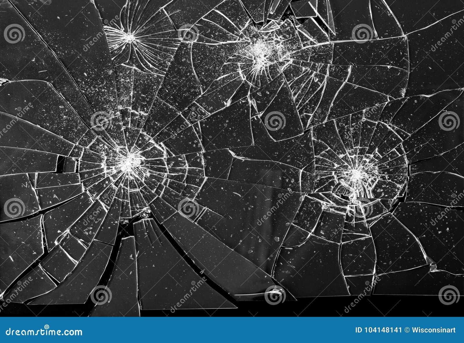 Broken Shattered Glass Shards Background