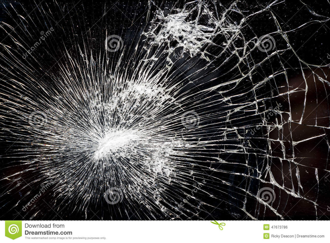 Shattered Glass stock photo  Image of disrepair, details - 47673786