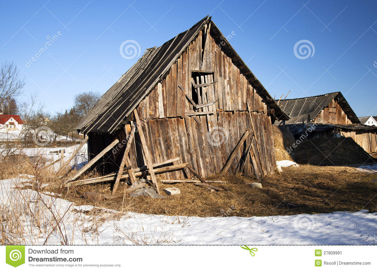 The broken shed stock image. Image of hopelessness ...
