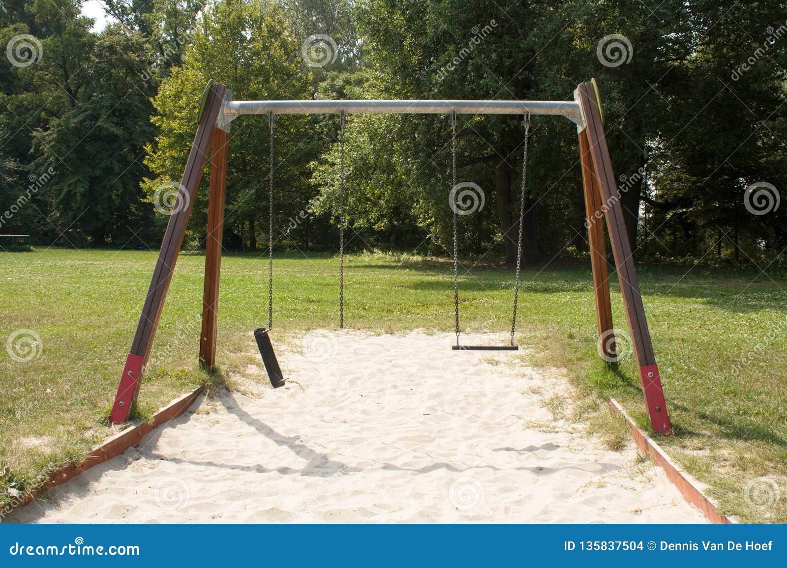 Broken swing.