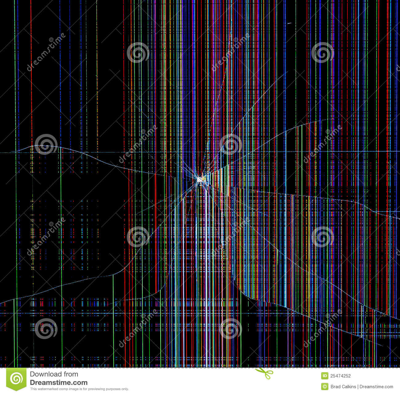 Broken Screen Wallpaper: Broken Screen Stock Photo. Image Of Television, Phone
