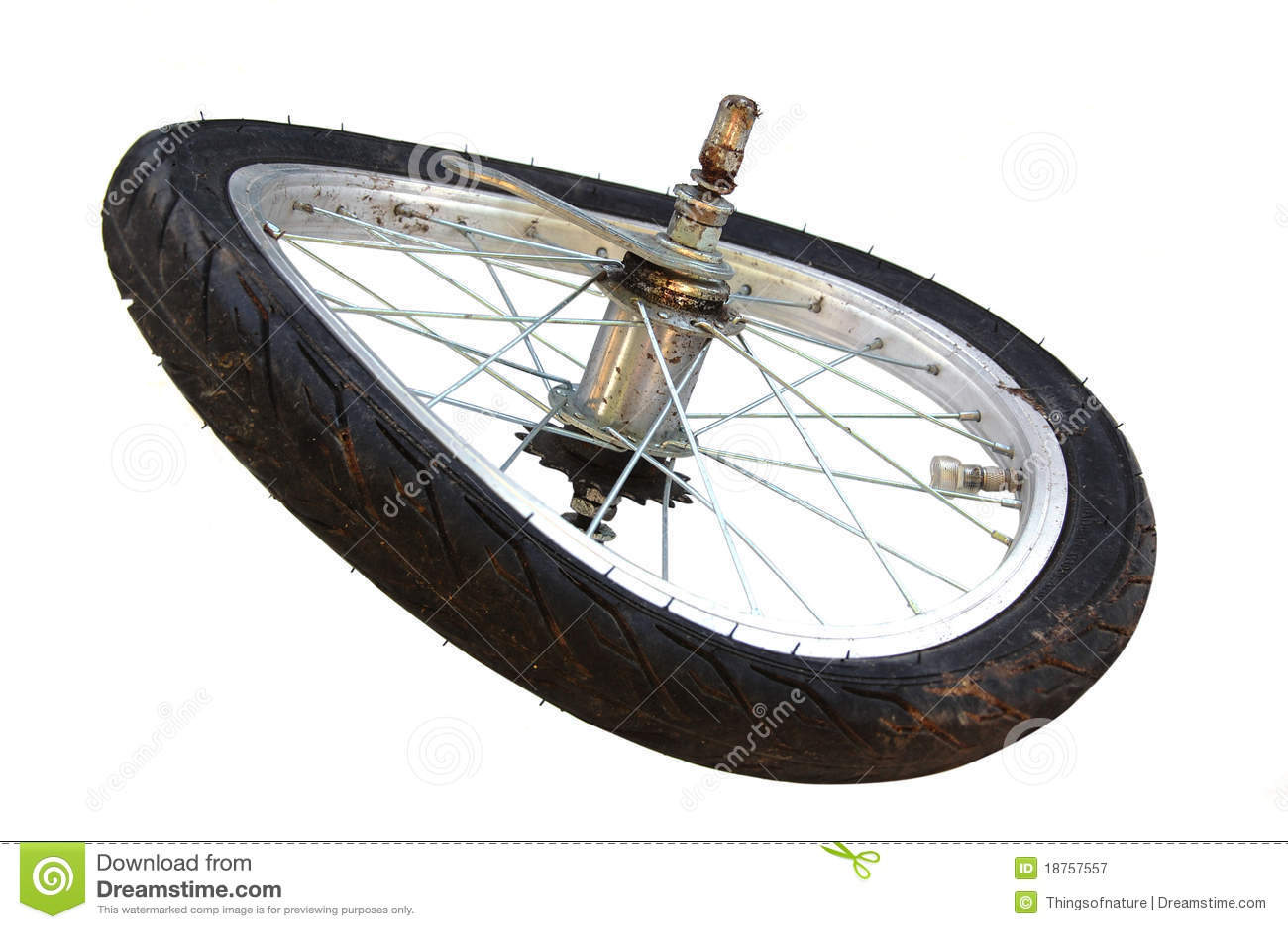 Broken Wheel Clip Art : Broken tire royalty free stock photography image