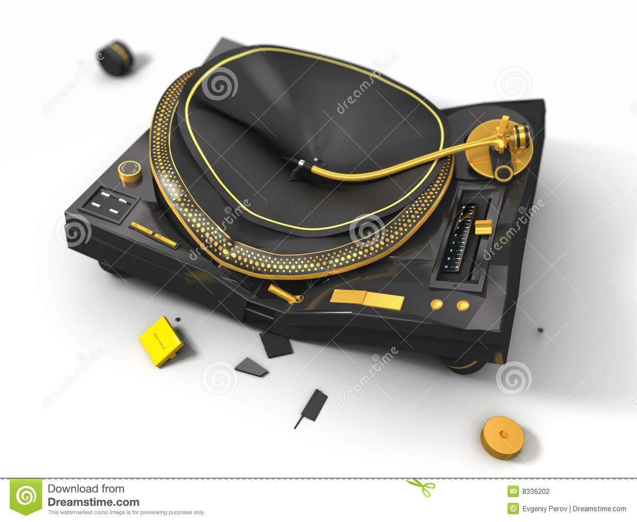 Broken Turntable Stock Photography Image 8336202