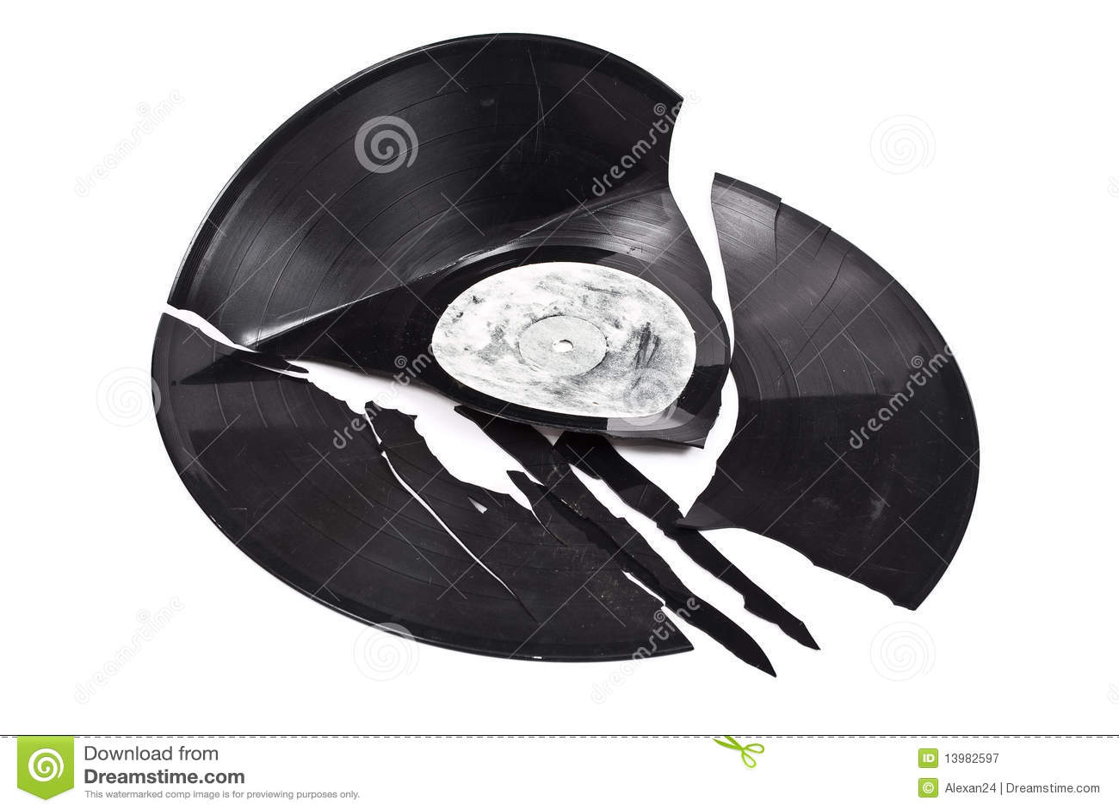 Broken Vinyl Record Royalty Free Stock Image