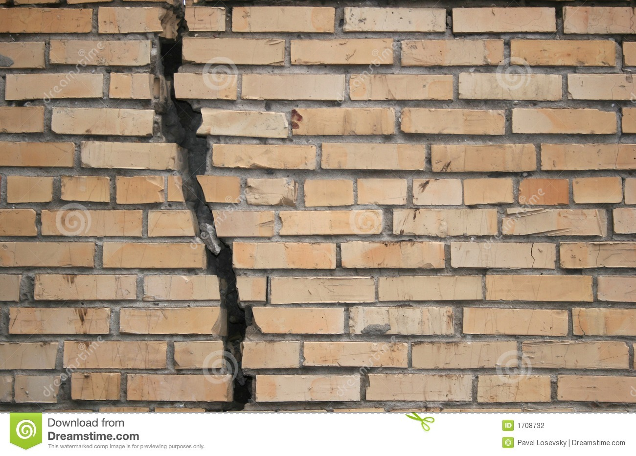 Broken Wall Stock Photography Image 1708732