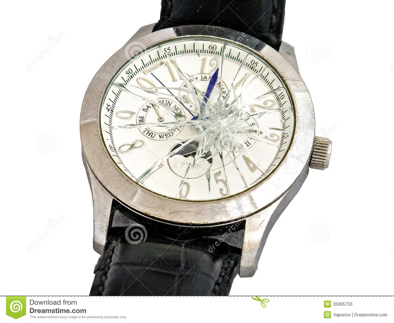 broken watches royalty free stock photo