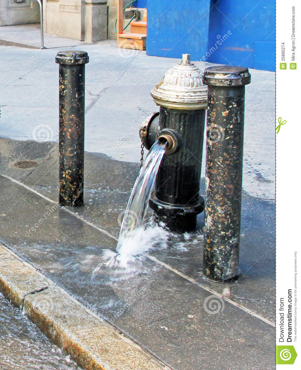 Broken Water Pipe Stock Images Image 25895274
