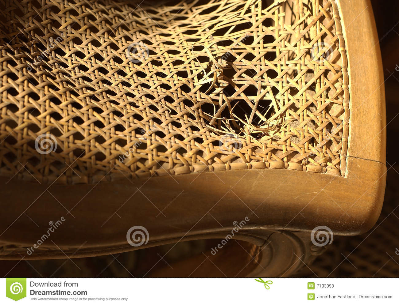 Broken Wicker Chair Seat Royalty Free Stock s Image