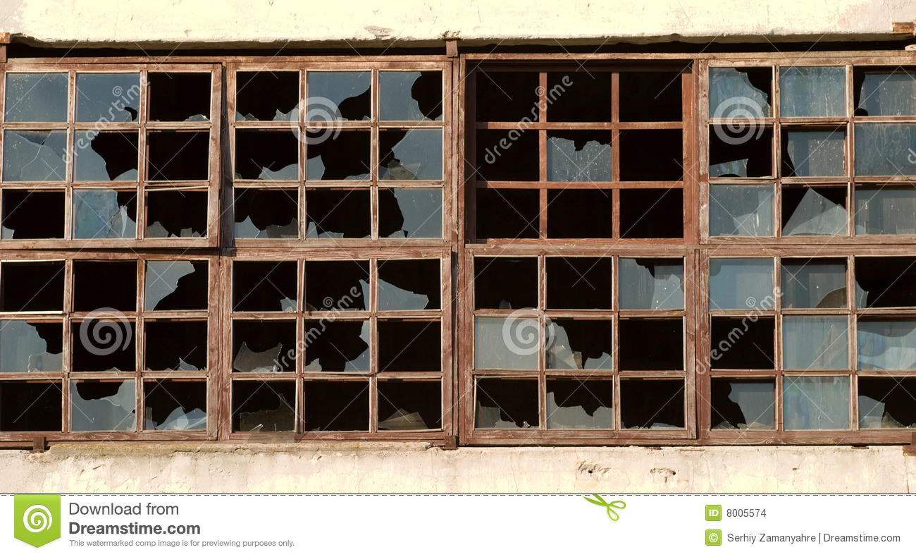 broken windows stock images image 8005574 Old Railroad Warehouses Side Old Warehouse Doors