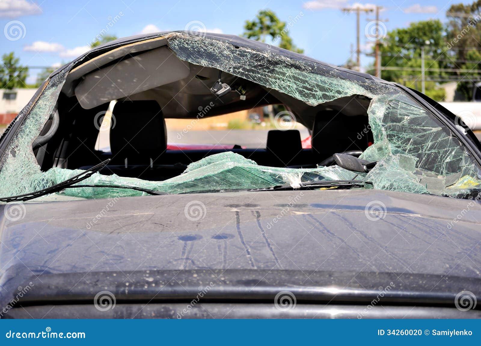 broken windshield stock photography 34260020. Black Bedroom Furniture Sets. Home Design Ideas