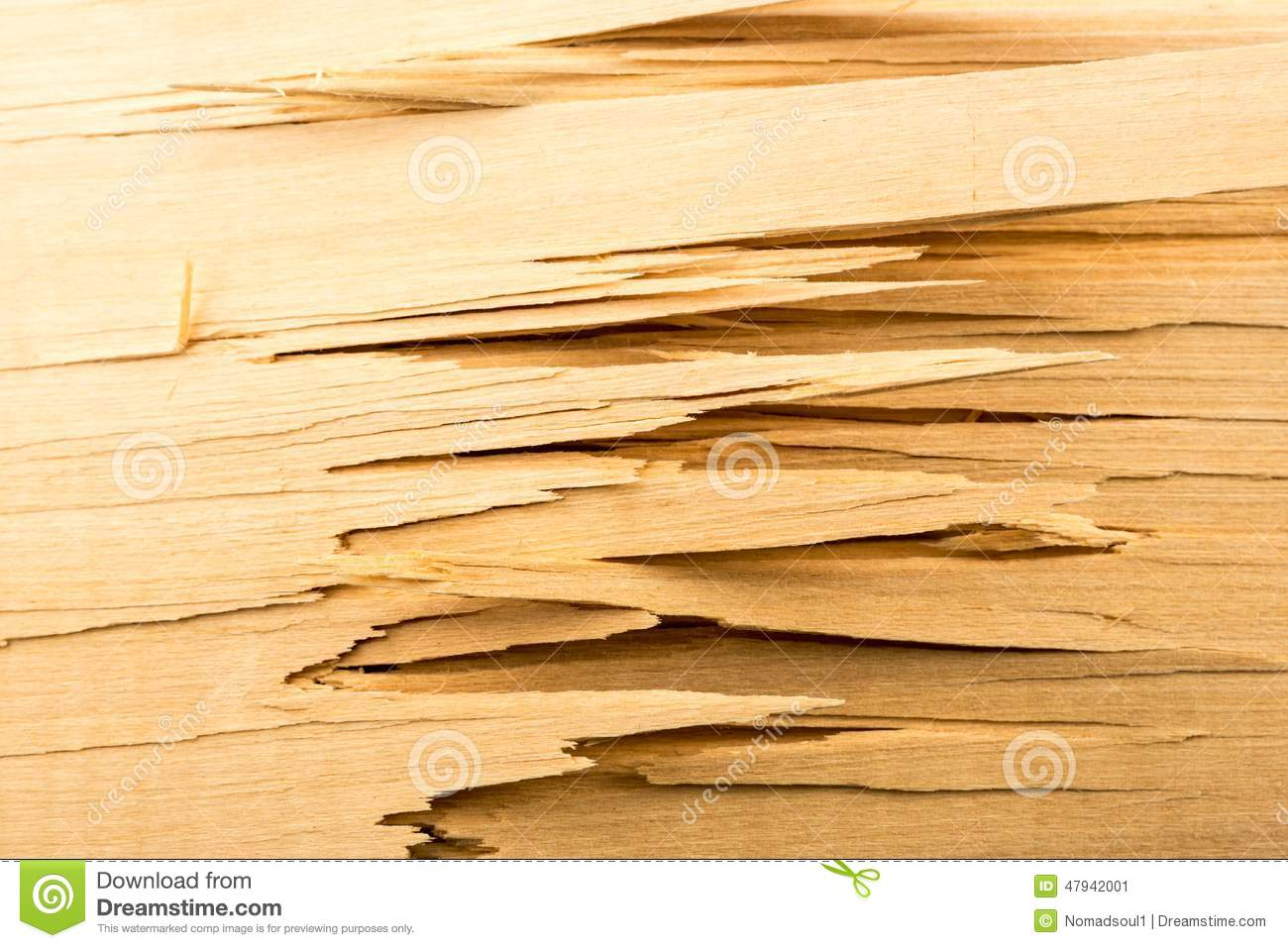 Broken wooden planks stock image of collection