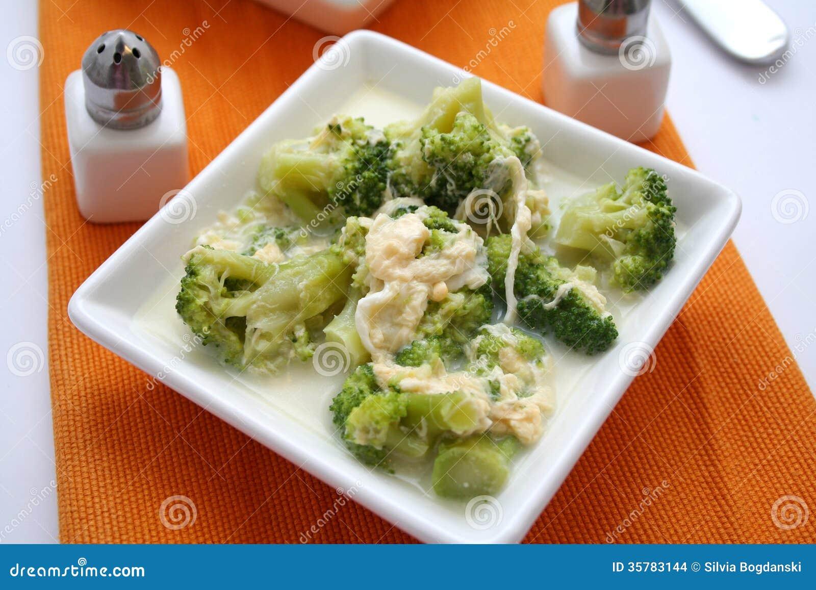 Brokuły w pucharze