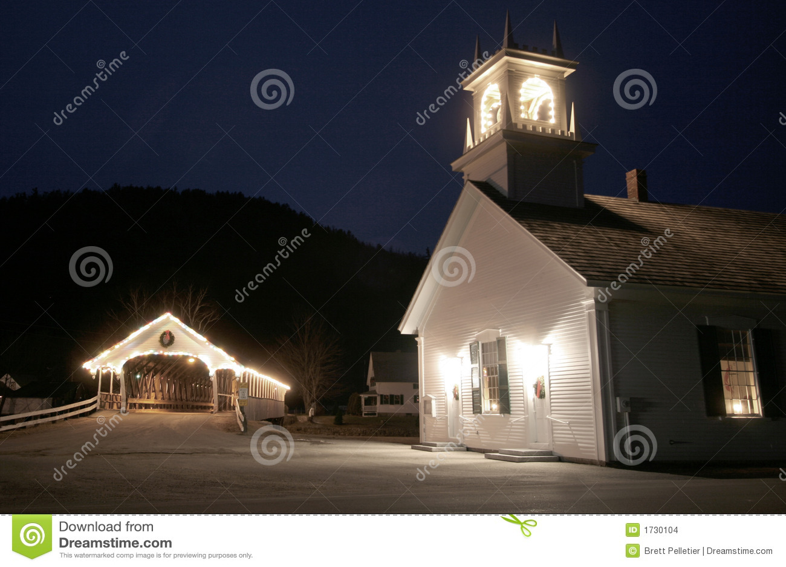 Brokyrkan räknade den gammala england nya natten