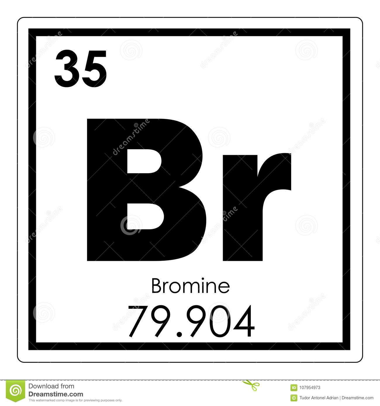 Bromine Chemical Element Stock Illustration Illustration Of Bromine