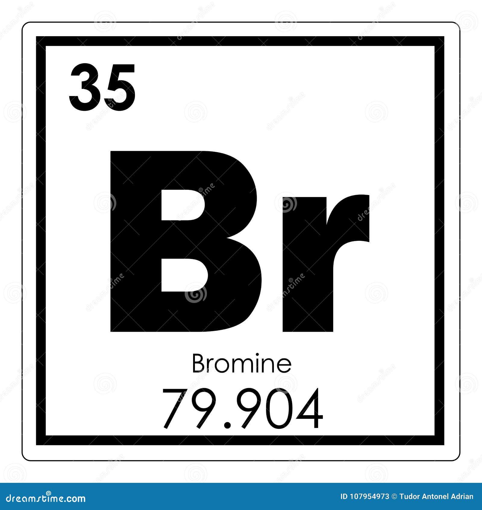 Bromine Chemical Element Stock Illustration Illustration Of Bromine