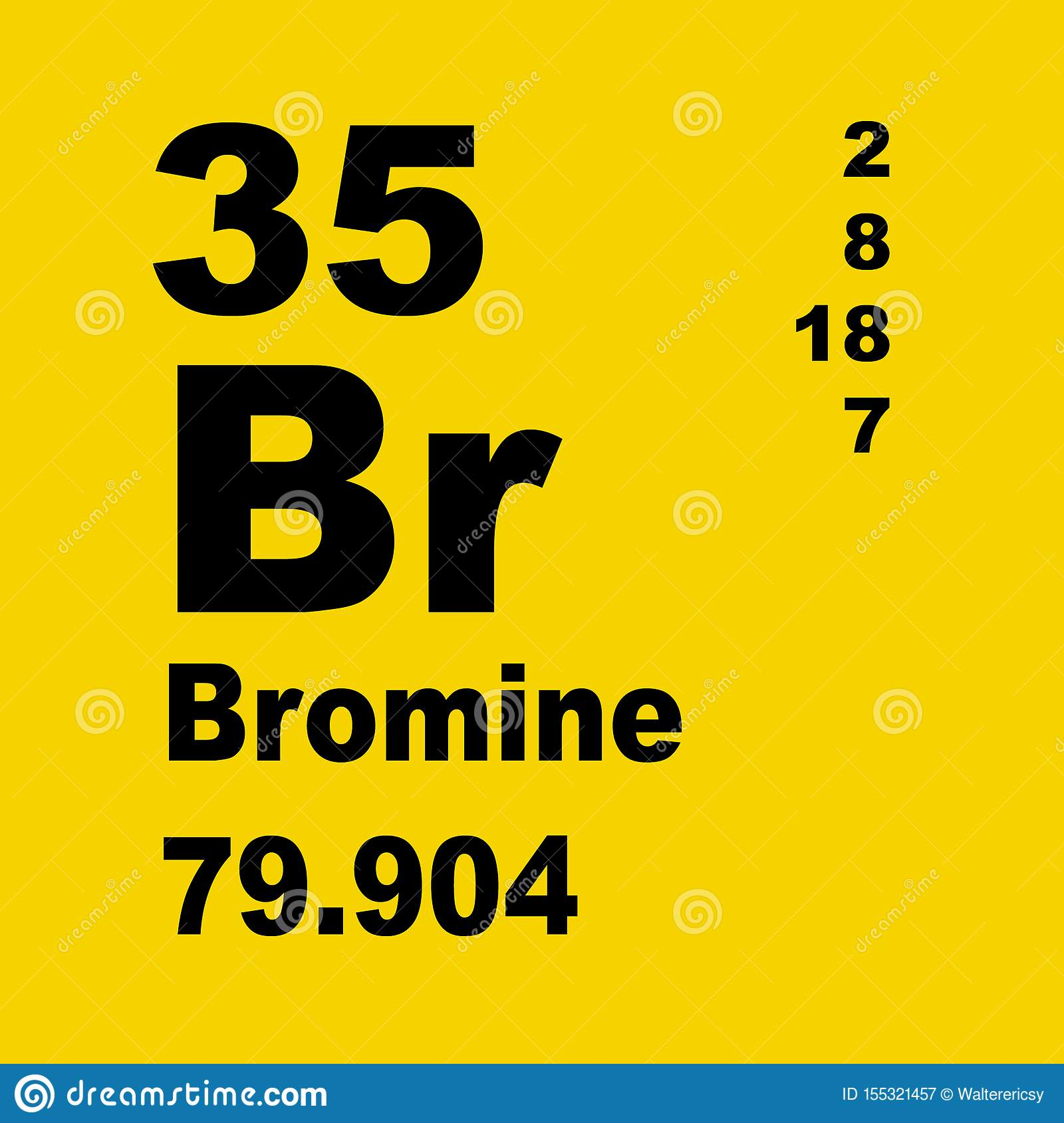 Periodic Table Of Elements Bromine Stock Illustration