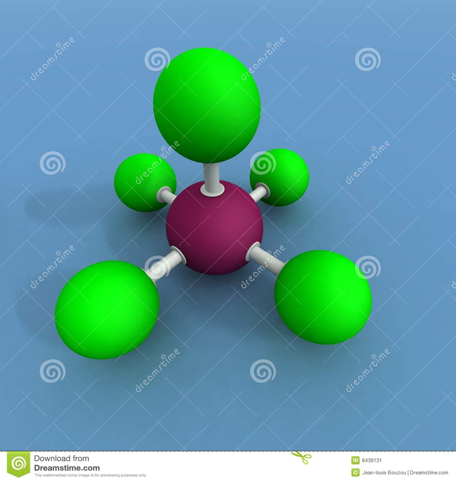 Bromine Fluoride Molecule Stock Image - Image: 8439131