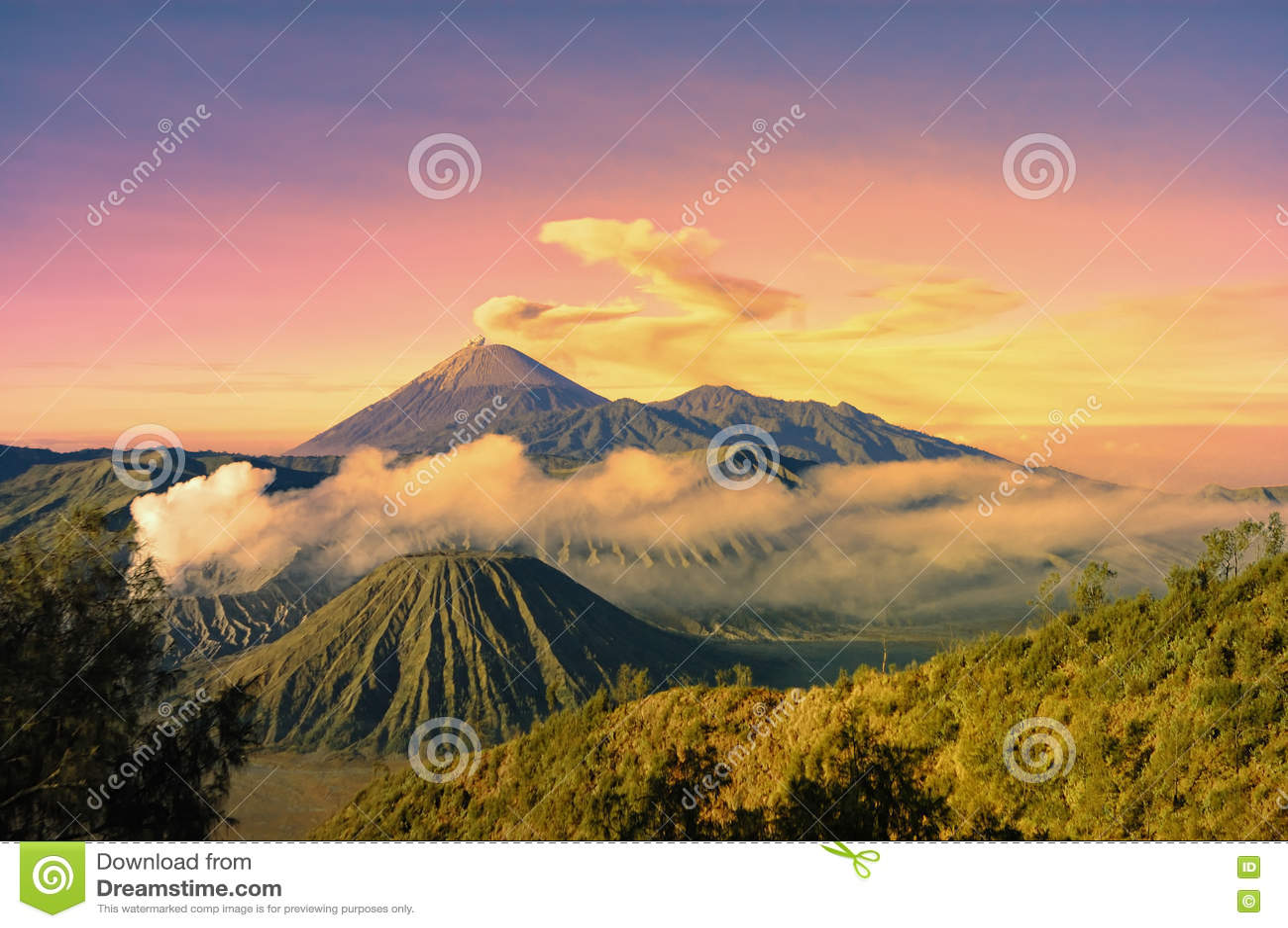 Bromo-Berg am Morgen