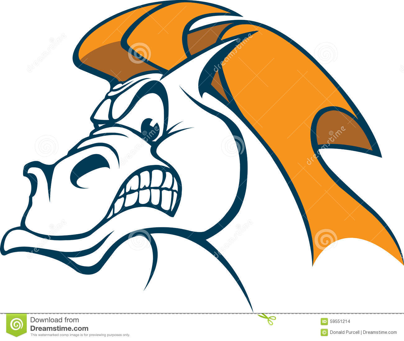cartoon Horse Head. Vector and high resolution jpeg files available.
