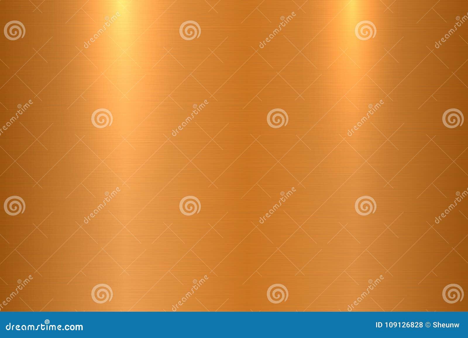 Brons borstad metalltextur Skinande polerad metallisk yttersidabakgrund
