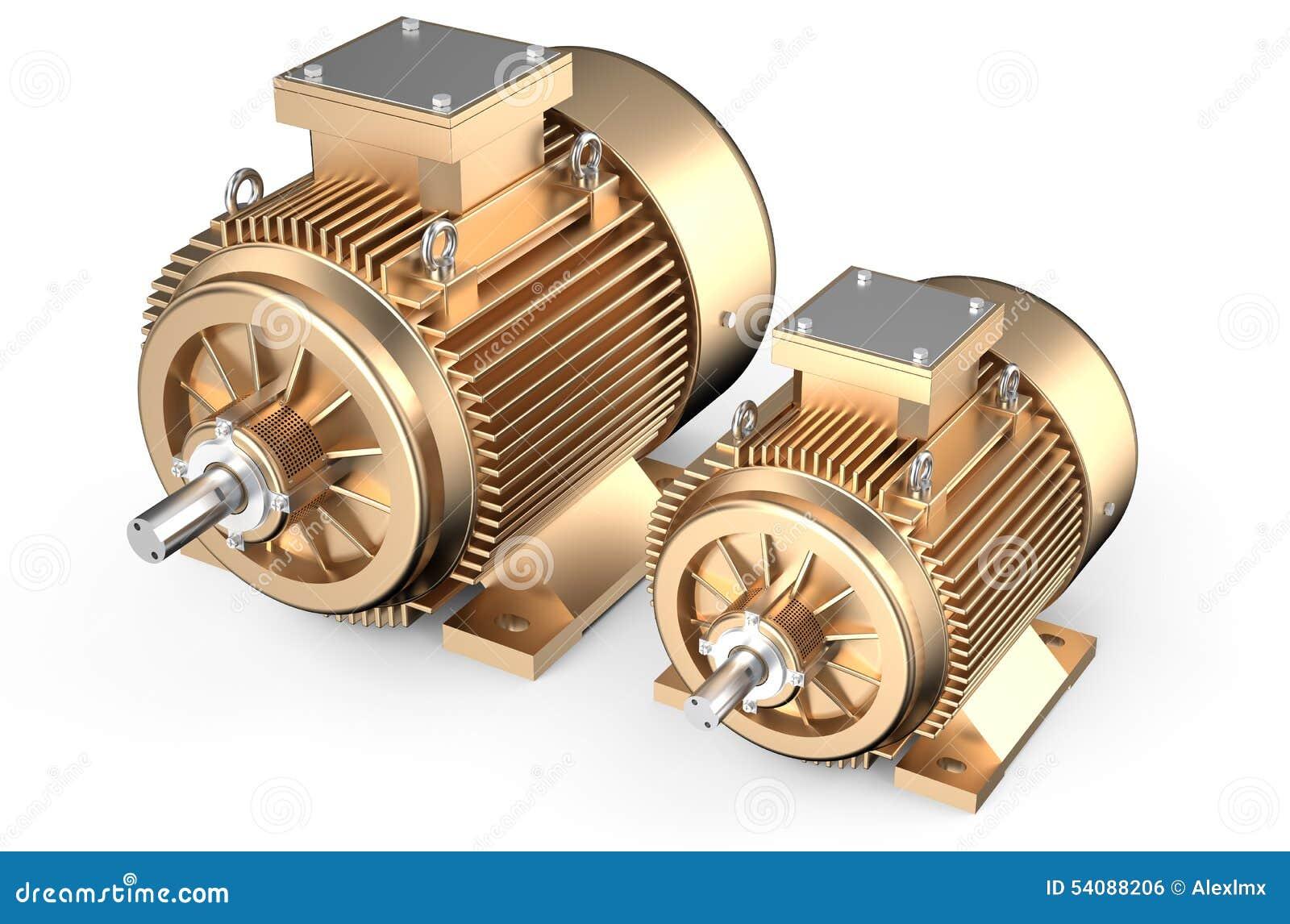 Brons industriële elektrische motoren