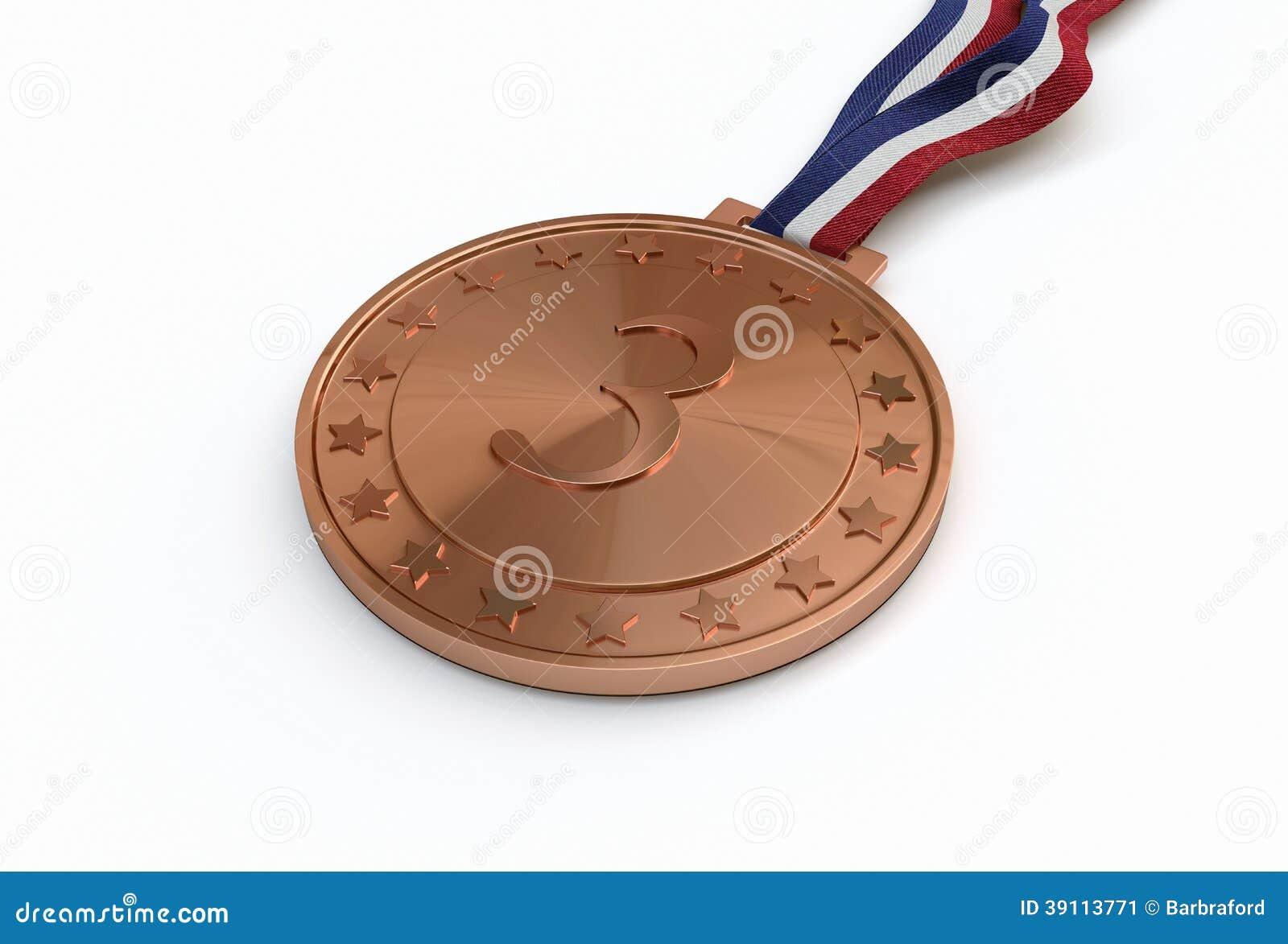 Bronsmedaille met aantal