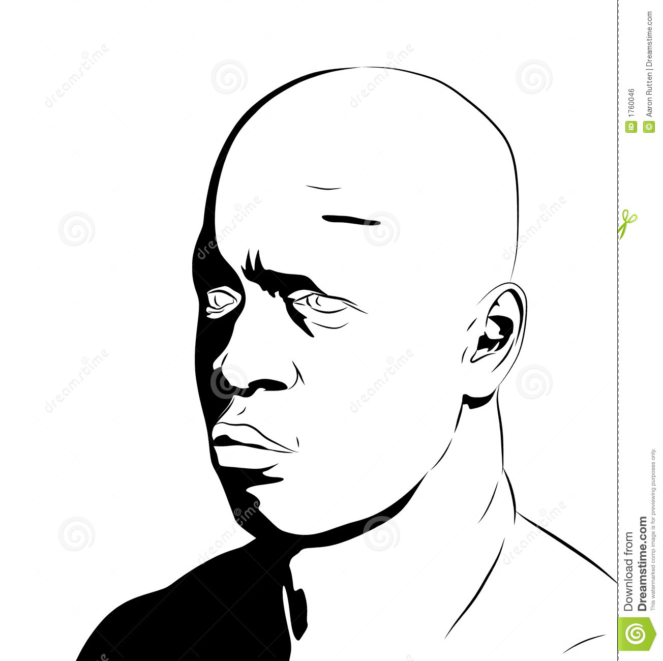 Man S Face Line Drawing : Quot bronz male face clipart stock illustration image of