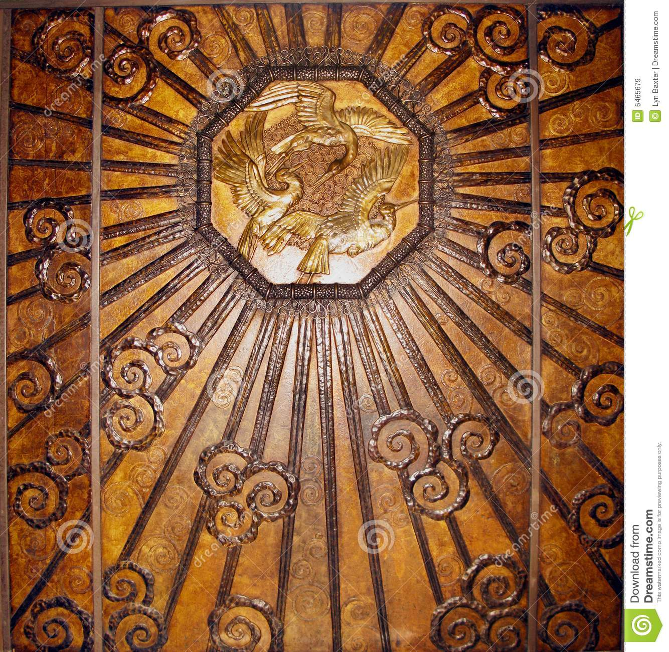 Bronze art deco wall stock image image of antique rustic for Bronze wall art