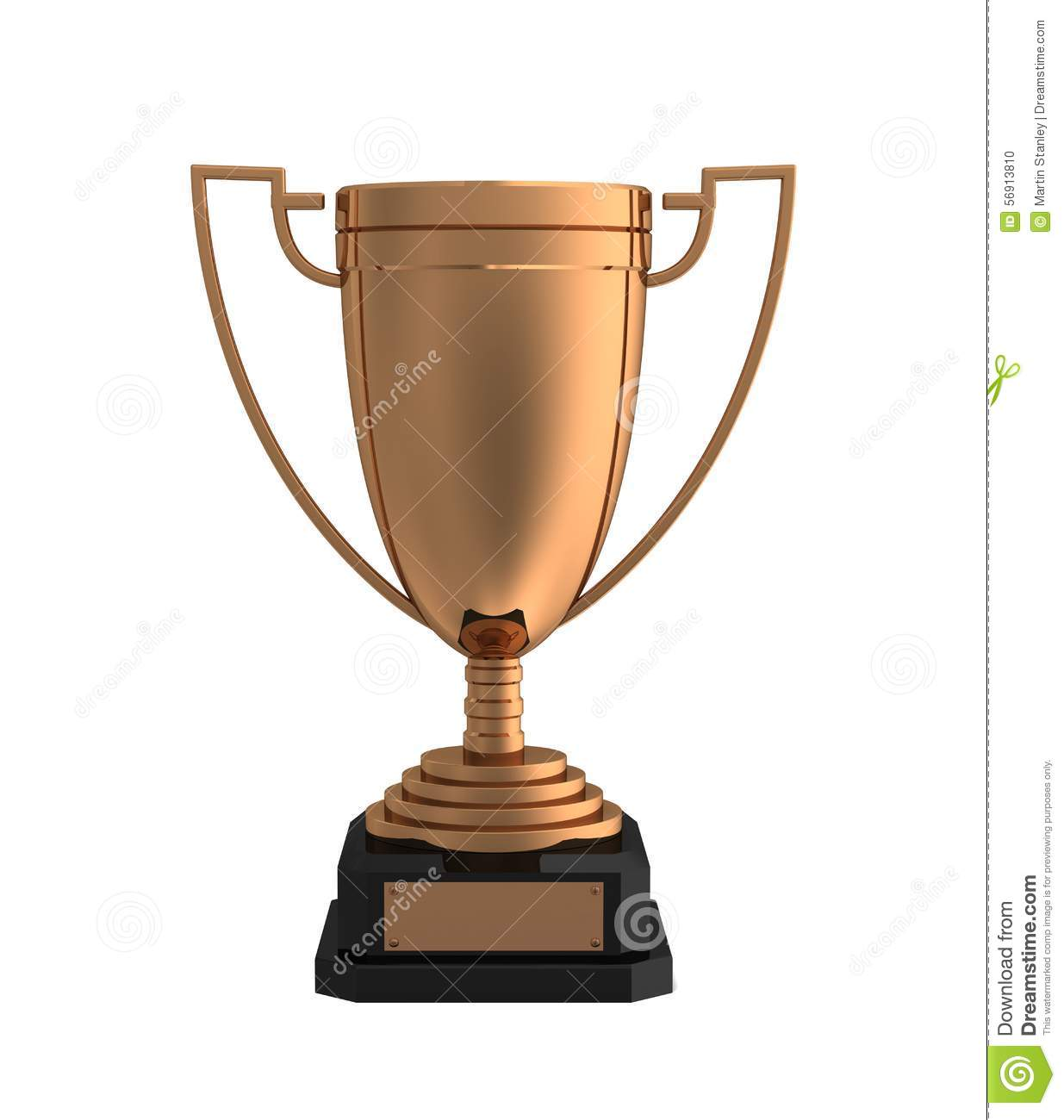 Bronze Cup, Award - 3d rendered image of a trophy isolated on white ...