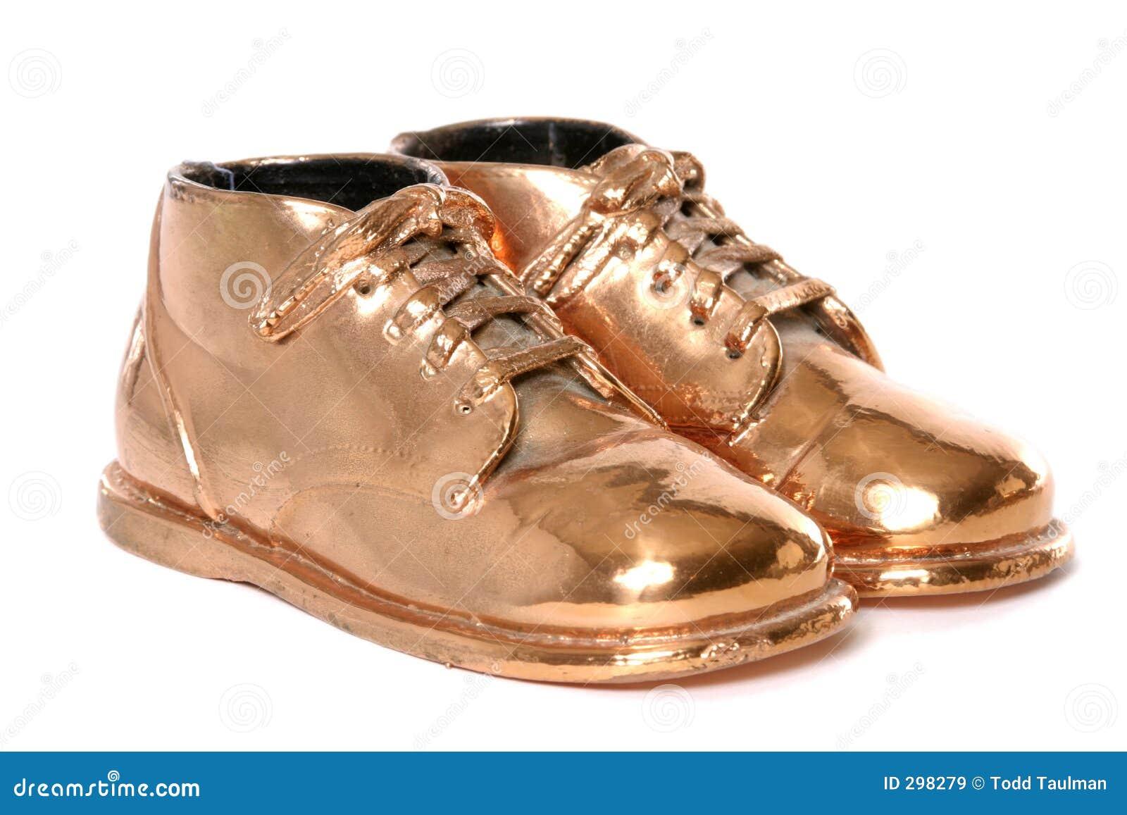 Bronze Baby Shoes Walking