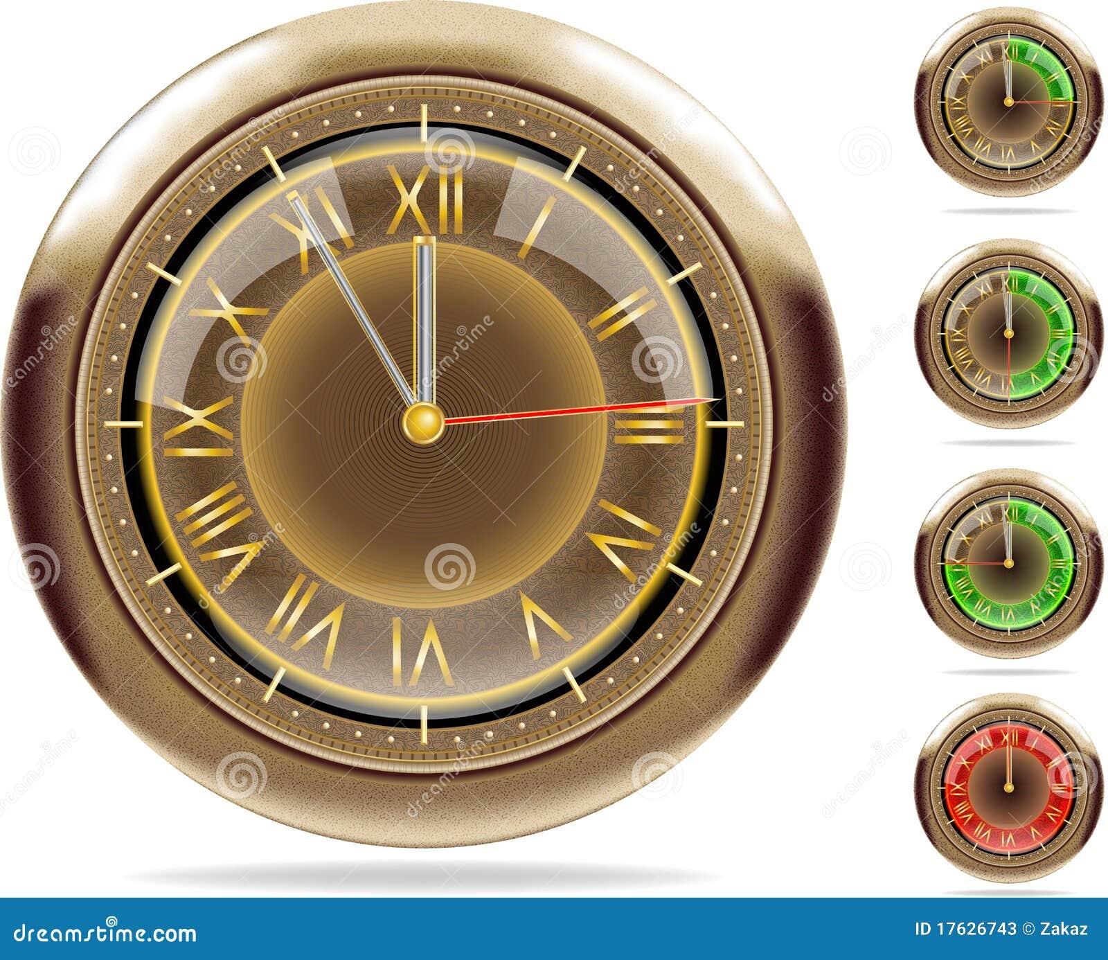 Bronze clocks set #2   Vector.ai 10