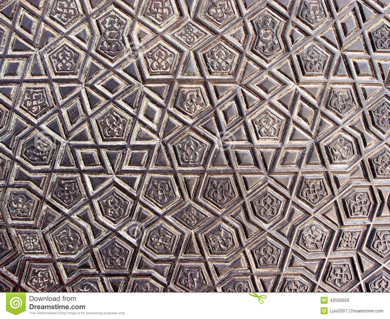Bronze decoration stock image image of background for Ancient decoration