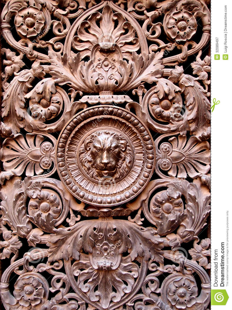 Bronze decoration stock image image of architecture for Ancient decoration