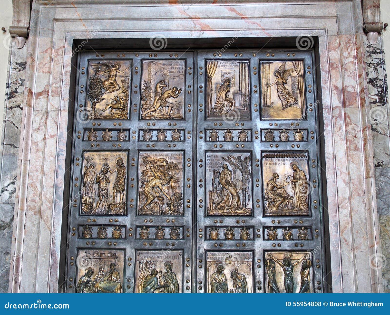 Bronze Doors Saint Peters Basilica Rome & Bronze Doors Saint Peters Basilica Rome Stock Photo - Image ... Pezcame.Com