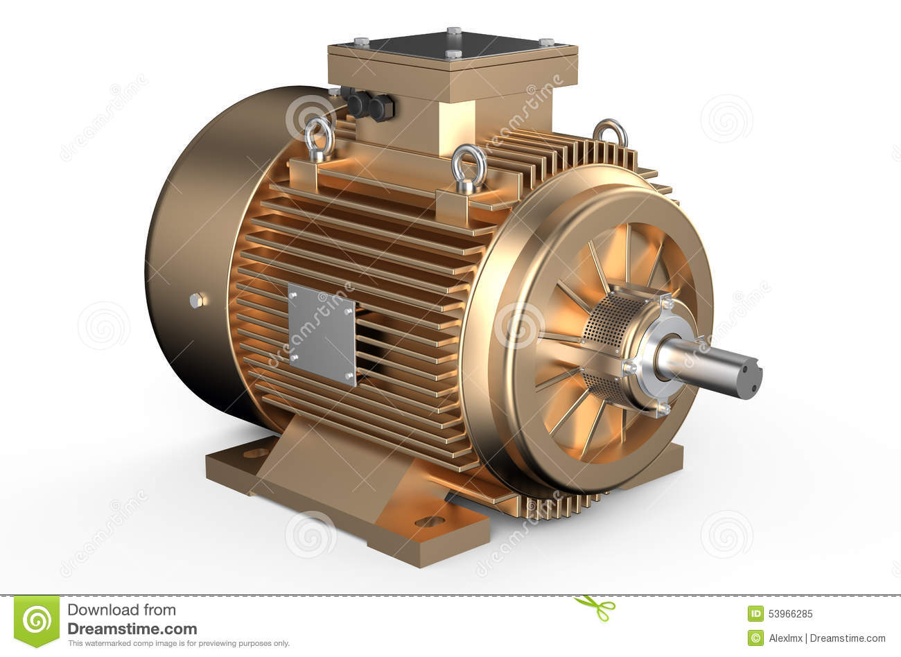 Bronze industrial electric motor stock illustration for Picture of electric motor