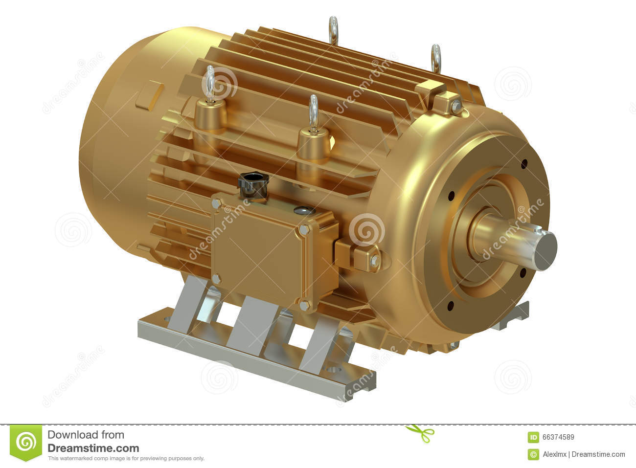 Bronze industrial electric motor stock illustration for Used industrial electric motors