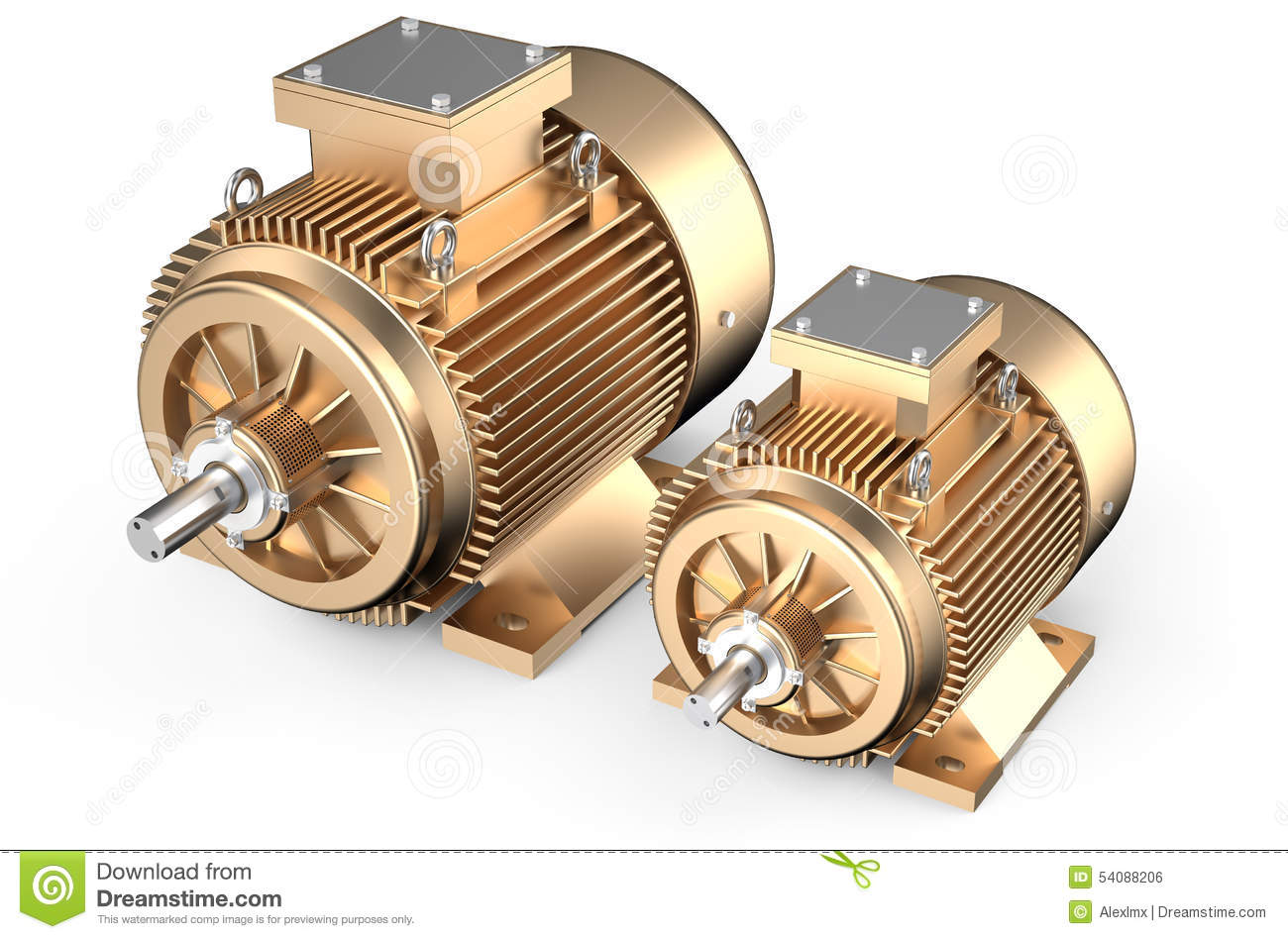 Bronze industrial electric motors stock illustration for Used industrial electric motors