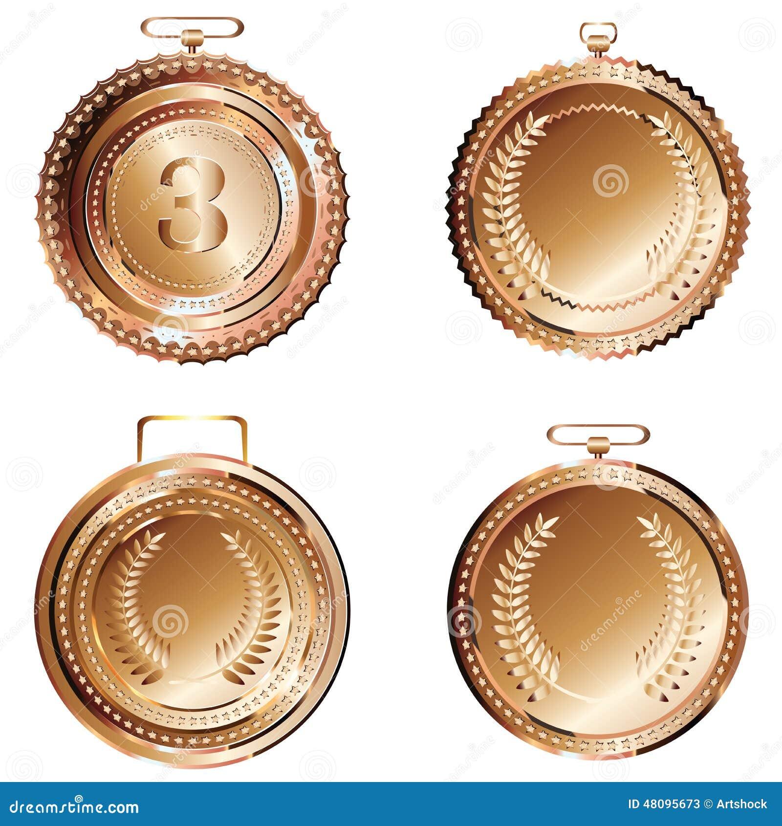 bronze medal stock vector image 48095673