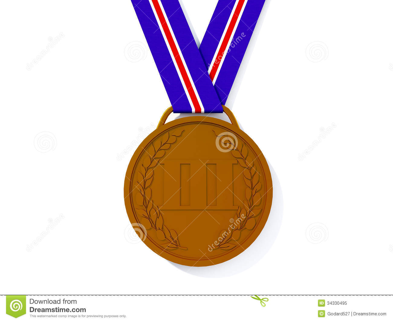 Bronze Medal Royalty Free Stock Photo - Image: 34330495