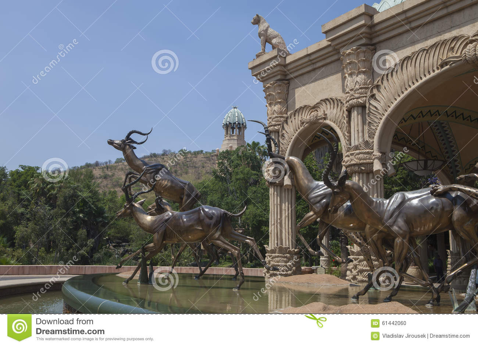 Bronze sculptures of antelopes, Sun City, South Africa