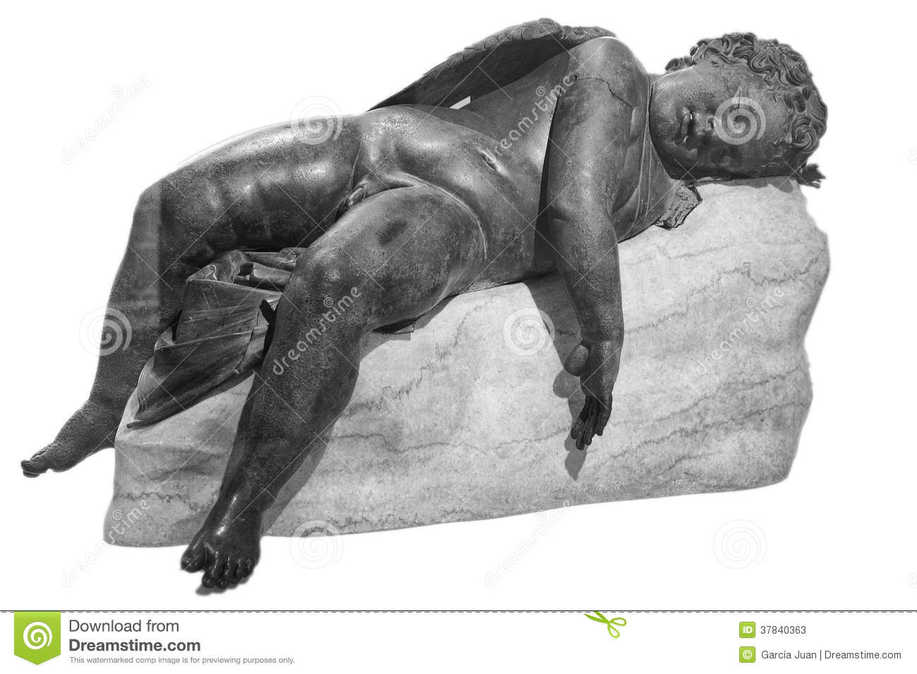 eros sleeping From the greek hellenistic period total from front center.
